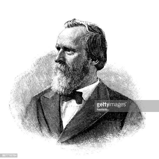 rutherford b. hayes - president stock illustrations, clip art, cartoons, & icons
