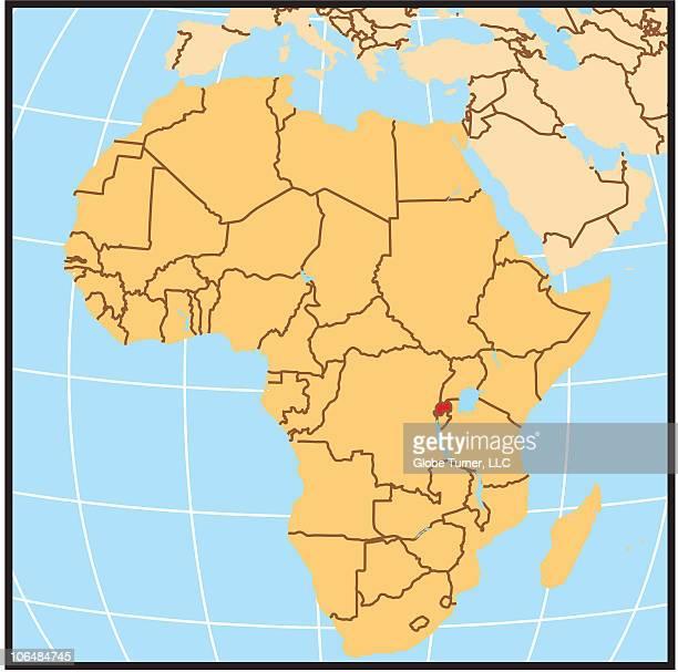 Rwanda locator map