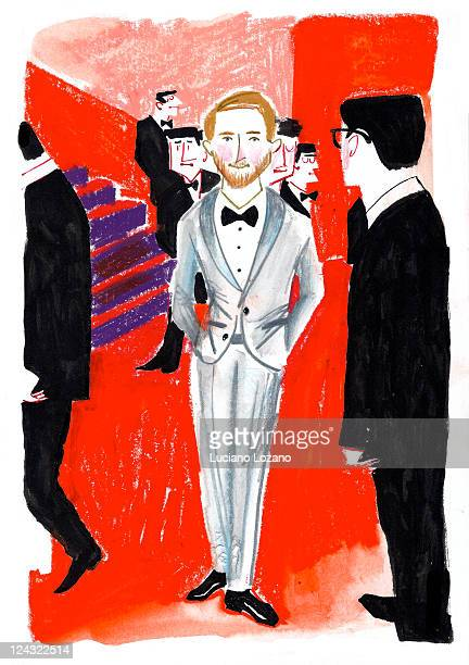 ryan gosling - cannes stock illustrations, clip art, cartoons, & icons
