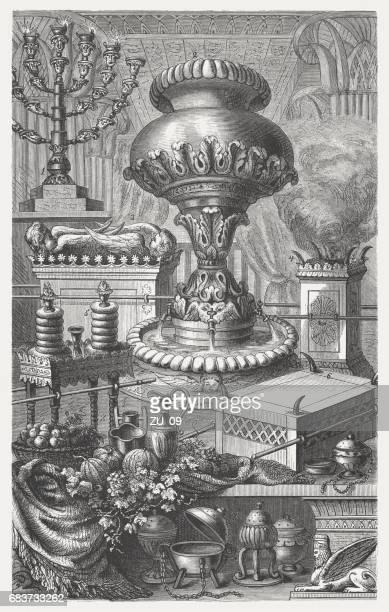 1880 年に公開された、木の彫刻のユダヤ人の神聖な機器 - 聖約の箱点のイラスト素材/クリップアート素材/マンガ素材/アイコン素材