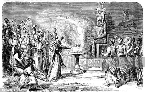 古代エジプトの司祭を犠牲にすること - 犠牲プレイ点のイラスト素材/クリップアート素材/マンガ素材/アイコン素材