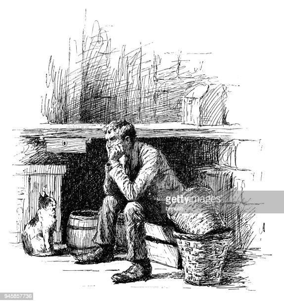 彼の猫と悲しい男