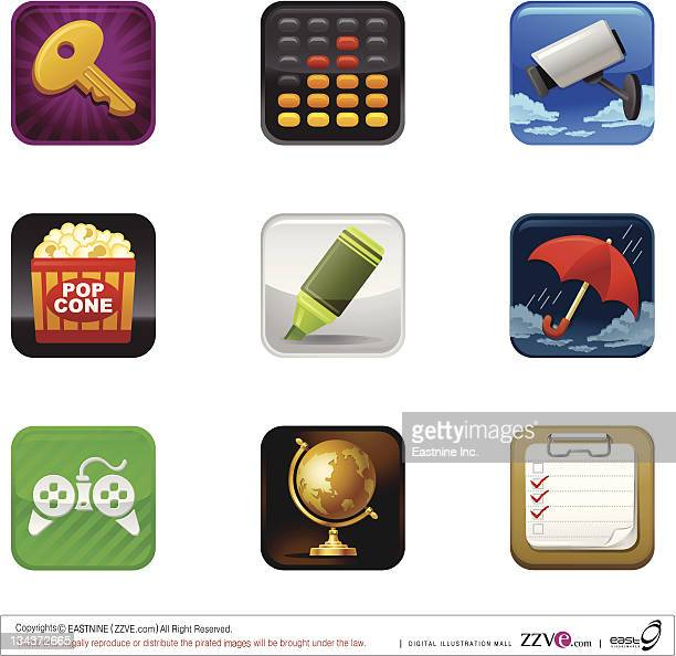 safety and protection icon set - monsoon stock illustrations, clip art, cartoons, & icons