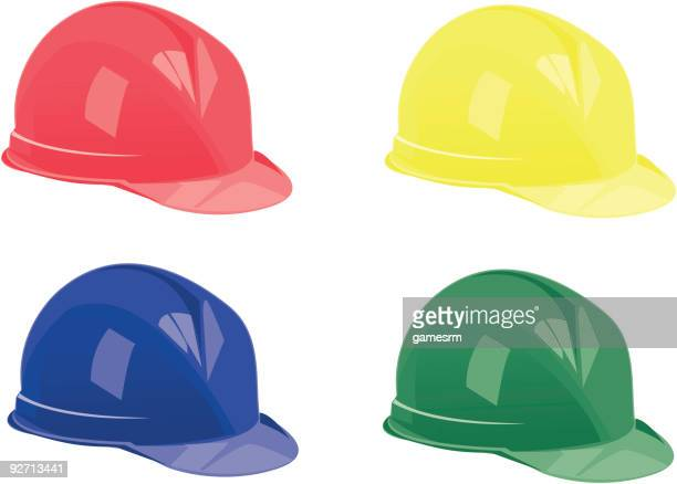 safety helments - occupational health stock illustrations, clip art, cartoons, & icons