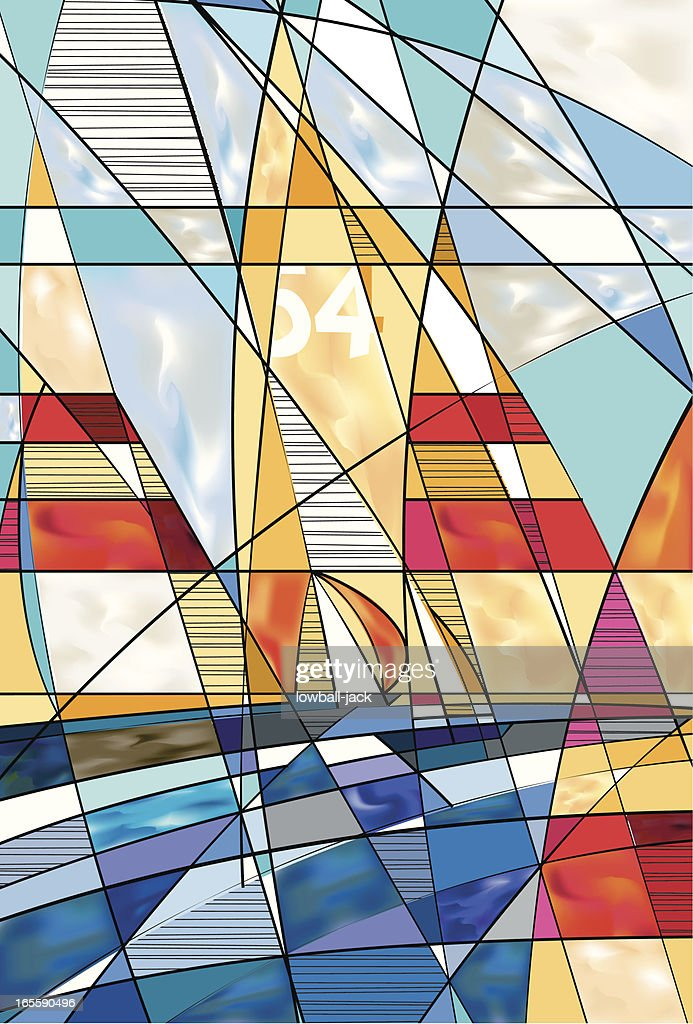 I Sail With Every Wind : stock illustration