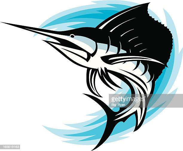 sailfish swoosh - sailfish stock illustrations