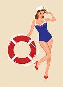Sailor girl pin-up