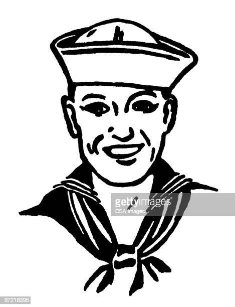 sailor - one young man only stock illustrations