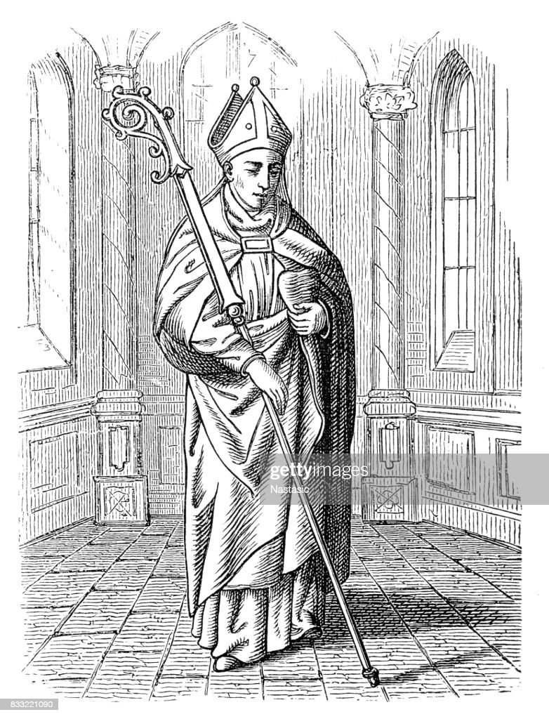 Saint Augustine Of Hippo : stock illustration
