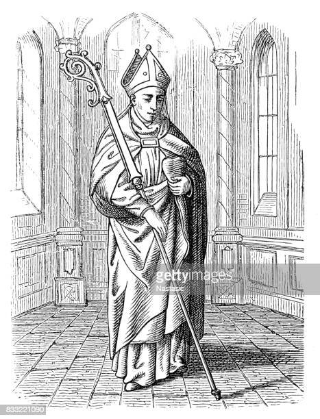saint augustine of hippo - bishop clergy stock illustrations, clip art, cartoons, & icons