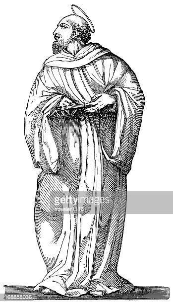 ilustrações, clipart, desenhos animados e ícones de são bernardo de clairvaux - cisterciense