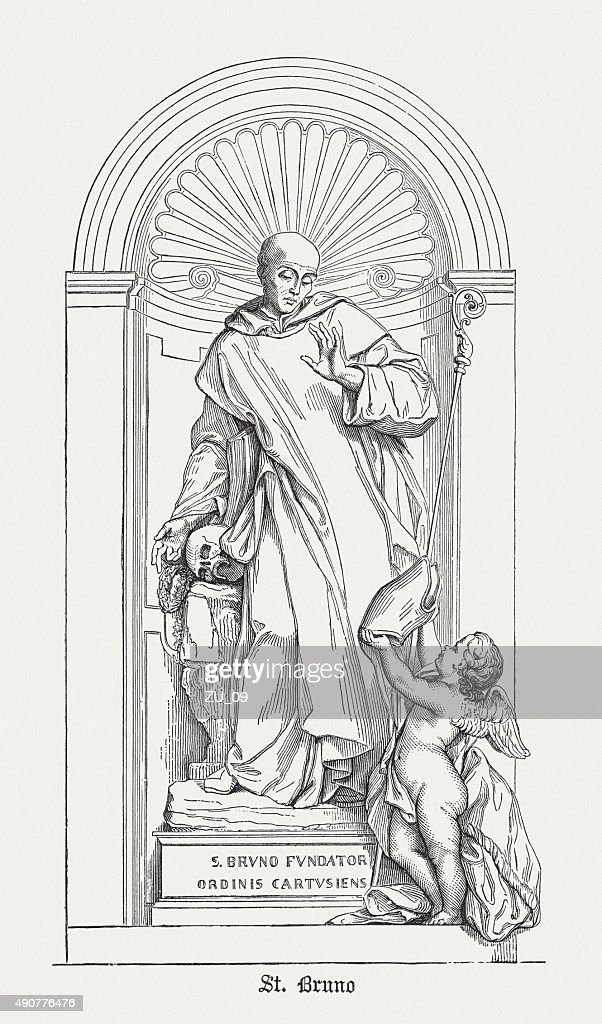 Saint Bruno (1035 - 1101), published in 1878 : stock illustration