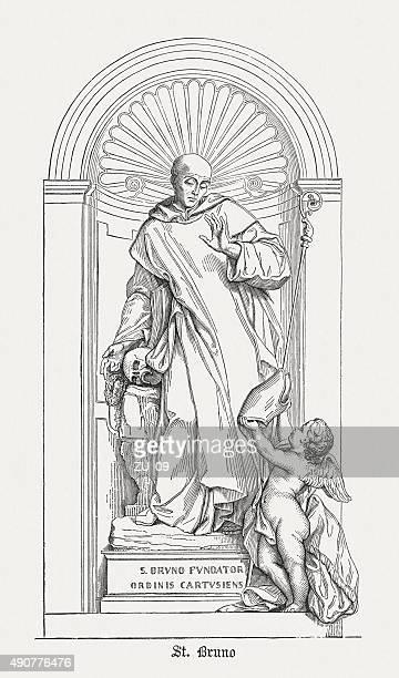 ilustrações de stock, clip art, desenhos animados e ícones de saint bruno (1035-1101), publicado em 1878 - st. peter's basilica the vatican