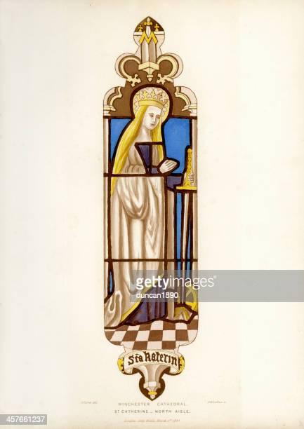 saint catherine - 1840 1849 stock illustrations