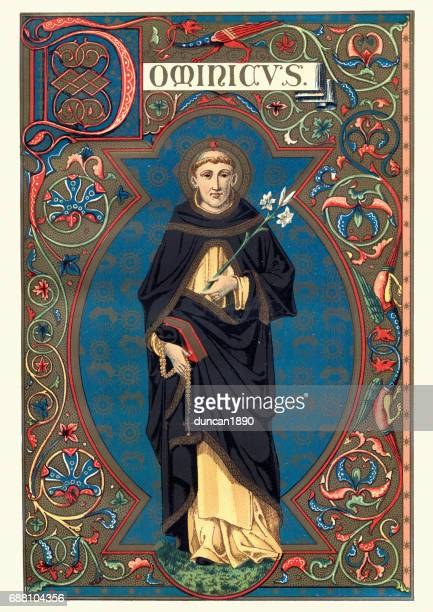 saint dominic - catholicism stock illustrations