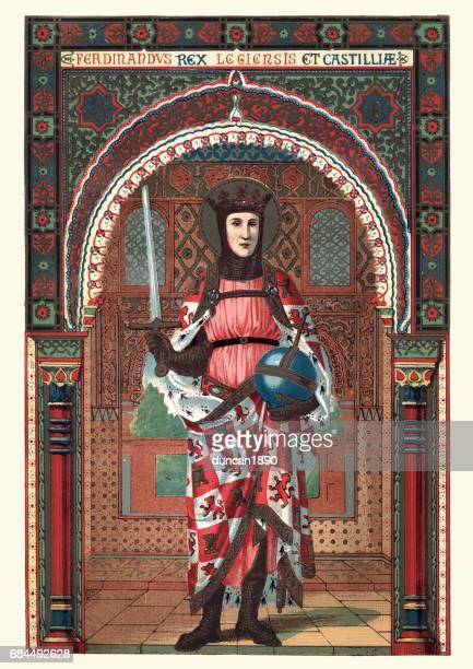 bildbanksillustrationer, clip art samt tecknat material och ikoner med saint ferdinand iii av kastilien - castilla y león