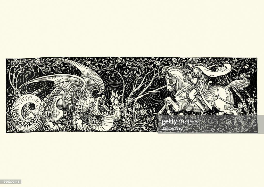 Saint George and the Dragon : stock illustration