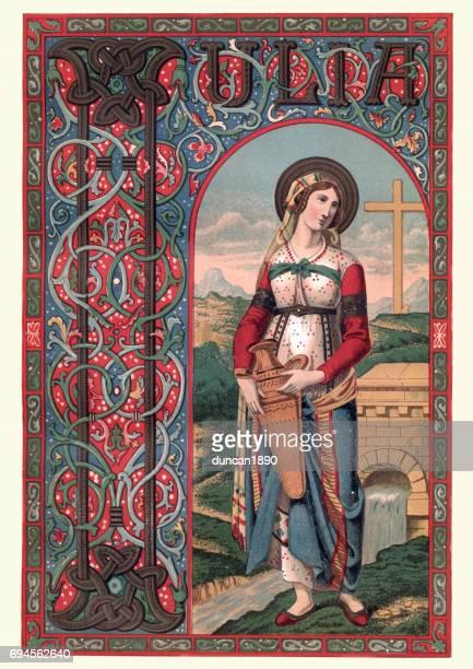saint julia of corsica - corsica stock illustrations, clip art, cartoons, & icons