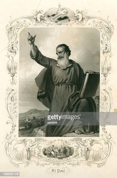 saint paul (xxxl) - paul the apostle stock illustrations