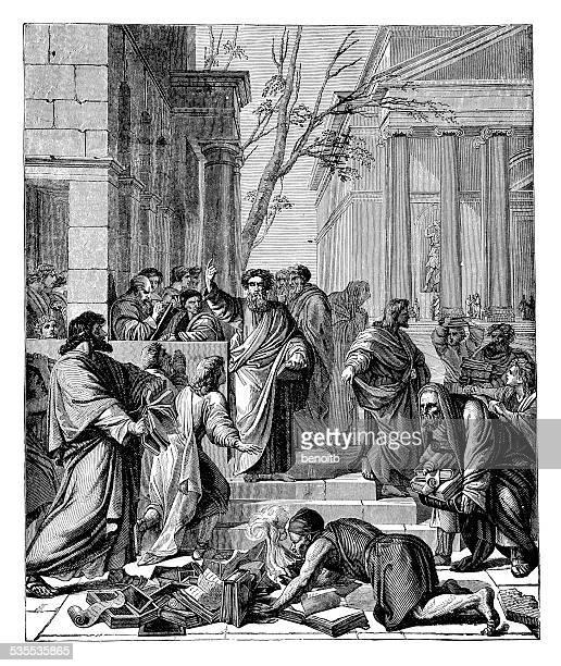 セントポール preaching エフェソスで - 使徒点のイラスト素材/クリップアート素材/マンガ素材/アイコン素材