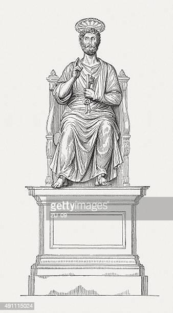 ilustrações de stock, clip art, desenhos animados e ícones de são pedro, publicada em 1878 - st. peter's basilica the vatican