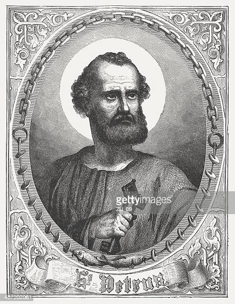 Saint Peter, wood engraving, published in 1868