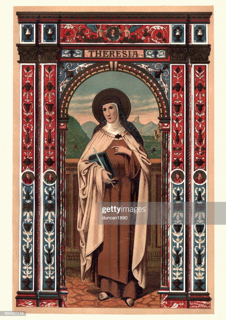Saint Teresa Of Avila Stock Illustration Getty Images