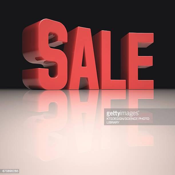 sale sign - capital letter stock illustrations