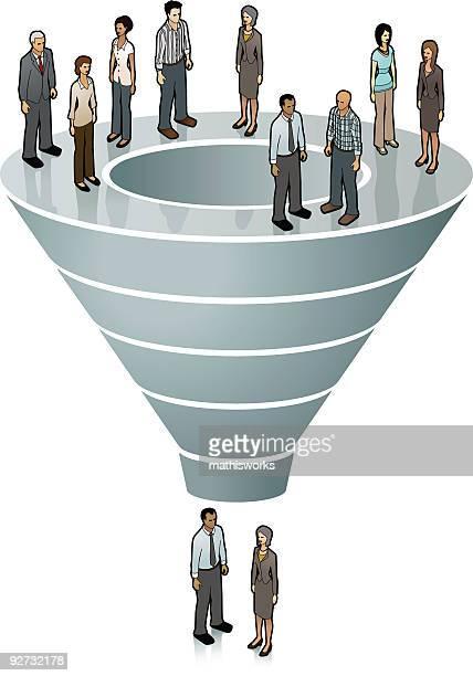 sales funnel image - funnel stock illustrations