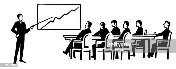 sales meeting - corporate business stock illustrations