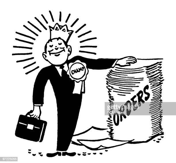 salesman - ruler stock illustrations