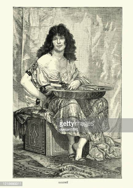 salome who demanded the head of john the baptist - salome stock illustrations