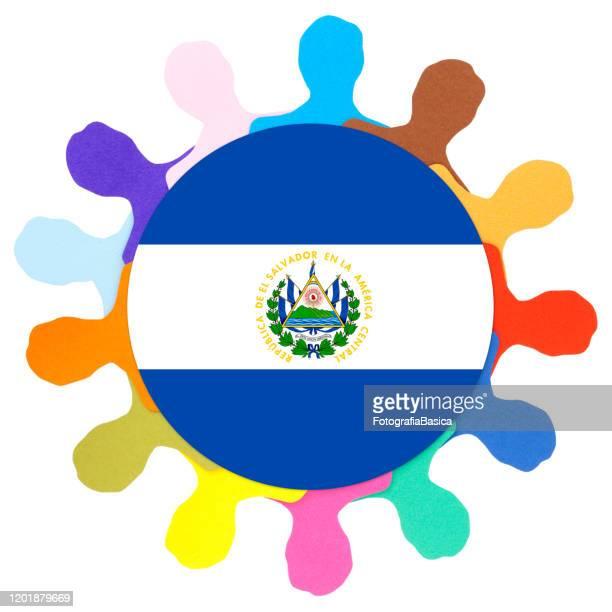 サルバドールの男性 - エルサルバドル国旗点のイラスト素材/クリップアート素材/マンガ素材/アイコン素材