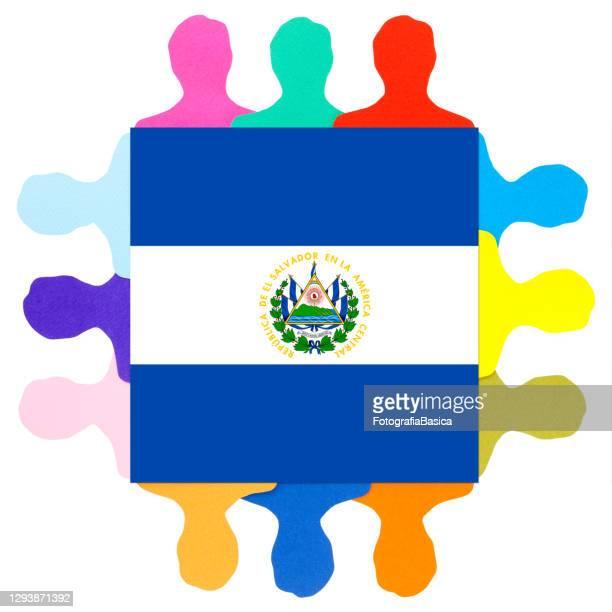 サルバドリア人男性 - エルサルバドル国旗点のイラスト素材/クリップアート素材/マンガ素材/アイコン素材