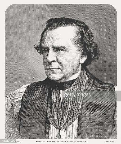 ilustrações, clipart, desenhos animados e ícones de samuel wilberforce (1805-1873), bispo anglicano publ. 1873 - bishop clergy