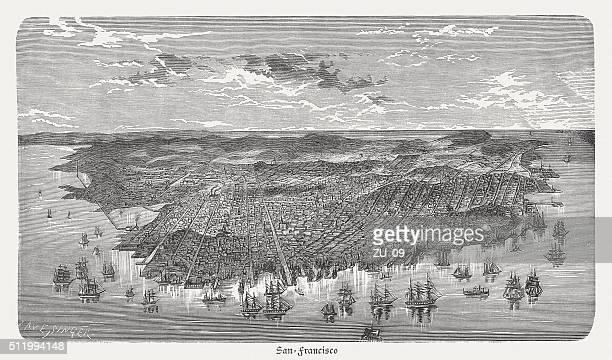 サン francisco ,california ,usa 、木製の彫り込み、発行に 1880 ) - 19世紀点のイラスト素材/クリップアート素材/マンガ素材/アイコン素材