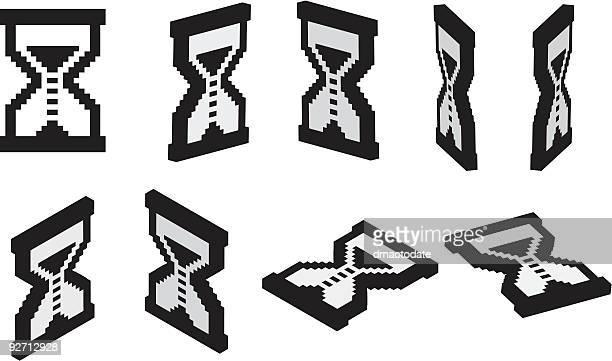 3 d sand glas-cursor - aufladen stock-grafiken, -clipart, -cartoons und -symbole