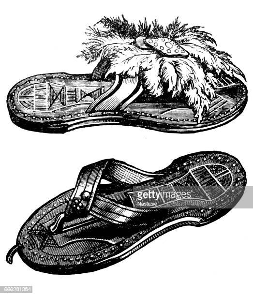 sandals from kano - sandal stock illustrations, clip art, cartoons, & icons