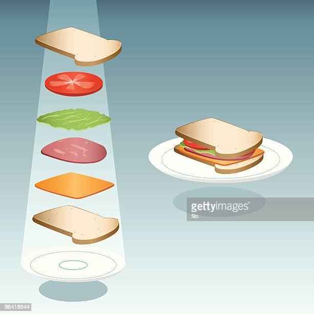 sandwich - cheddar cheese stock illustrations, clip art, cartoons, & icons