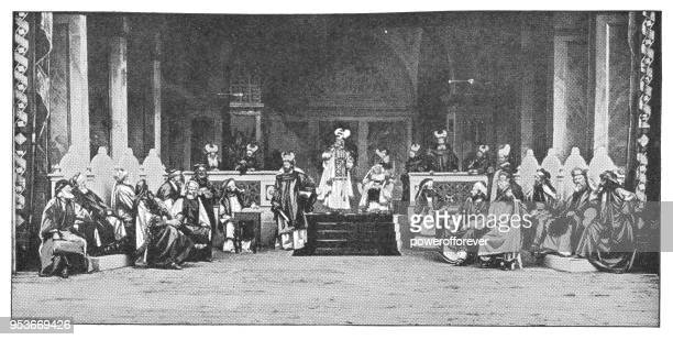 Sanhedrin Trial of Jesus at Passion Play in Oberammergau, Germany - 19th Century
