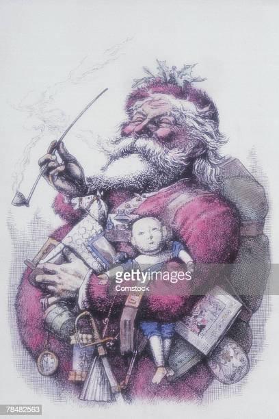 santa claus - hair color stock illustrations, clip art, cartoons, & icons
