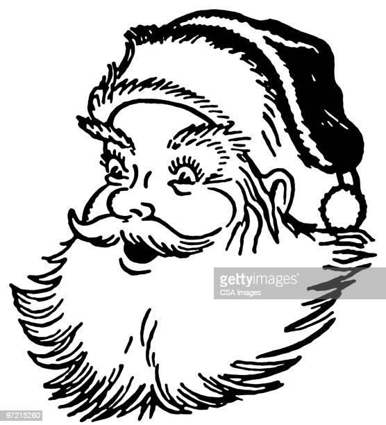 santa claus - alertness stock illustrations