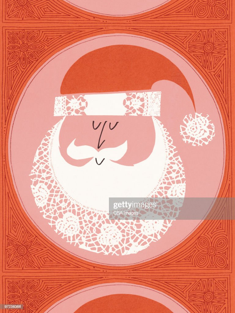 Santa pattern : stock illustration