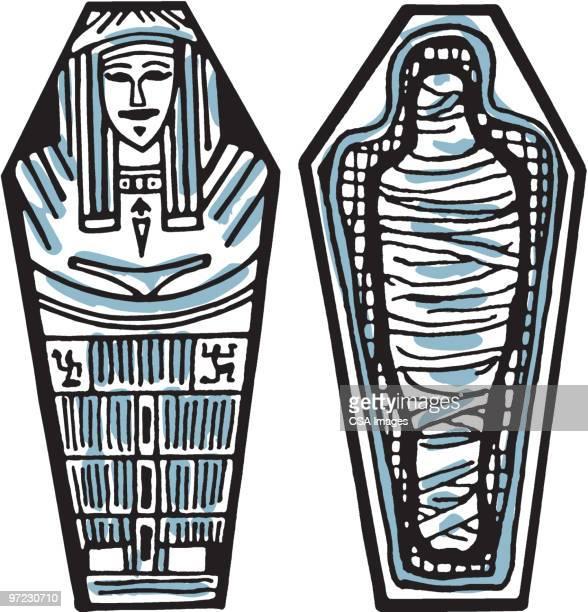 sarcophagus - ruler stock illustrations
