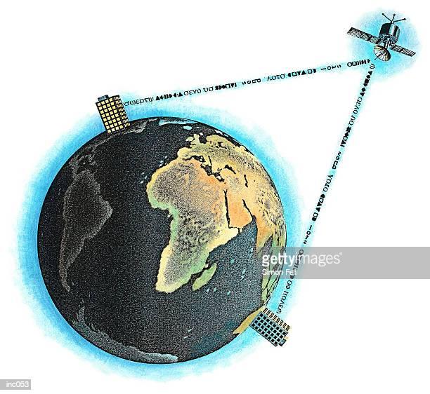 satellite communications - emitting stock illustrations, clip art, cartoons, & icons