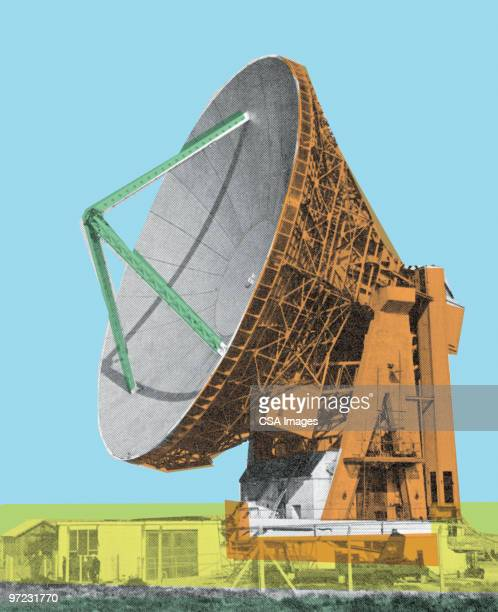 satellite dish - receiving stock illustrations