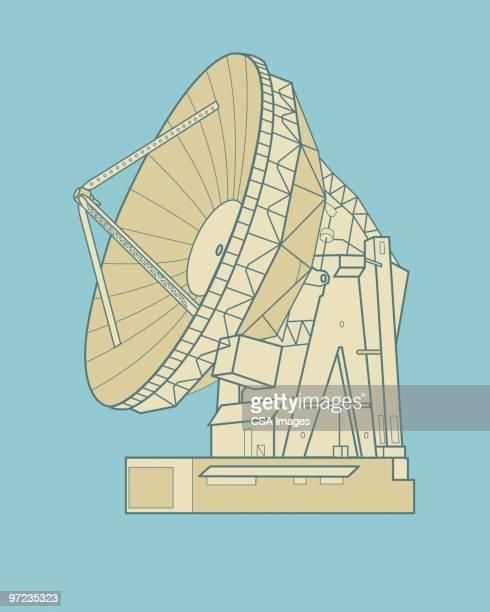 satellite dish - receiving stock illustrations