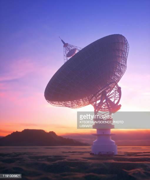 satellite dish, illustration - sunset stock illustrations