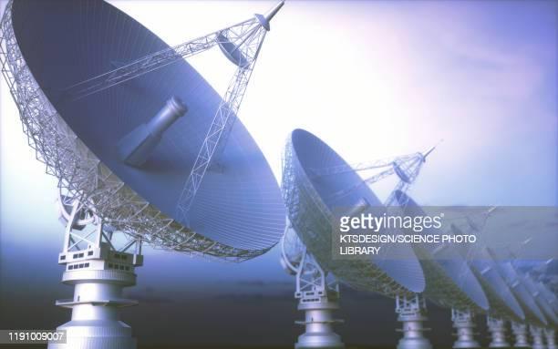 satellite dish, illustration - astrophysics stock illustrations