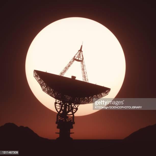 satellite dish, illustration - physics stock illustrations